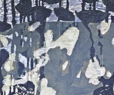Spiegelung 2010  Acryl auf Papier 112 x 135 cm