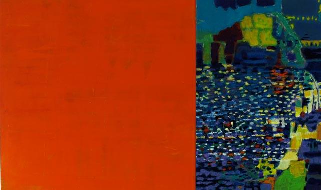 Spiegelung 2010  Acryl auf Hartfaserplatte 60 x 100 cm