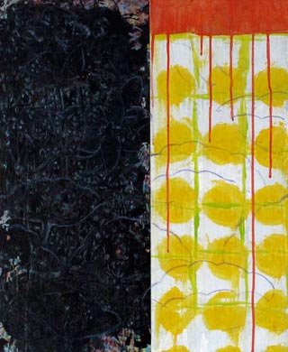 Muster Nacht und Tag  2009  Acryl auf Holz 60 x 50 cm
