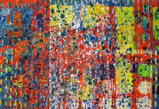 Spiegelung 2009  Acryl auf Hartfaserplatte 58 x 85 cm