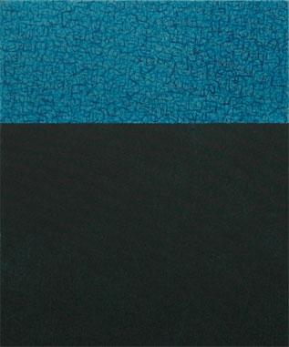 Blaue Nacht 2005  Acryl/Pigment auf Leinen 60 X 50 cm
