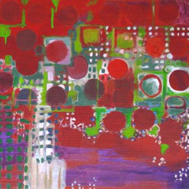 Park 2007  Acryl-Pigment auf Leinen 60 x 60 cm