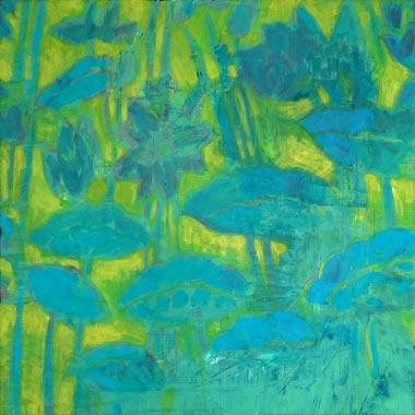 Spiegelung 2010  Acryl auf Hartfaserplatte 60 x 60 cm