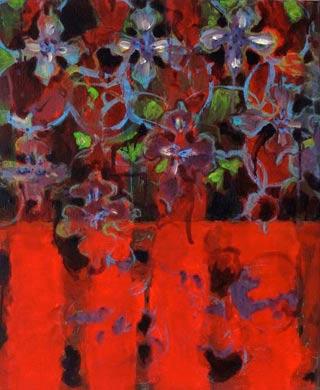 Blumig 2009  Acryl auf Leinen 60 x 50 cm