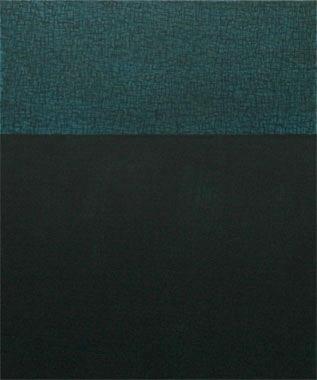Nächtlicher Horizont 2005  Acryl/Pigment auf Leinen 60 X 50 cm