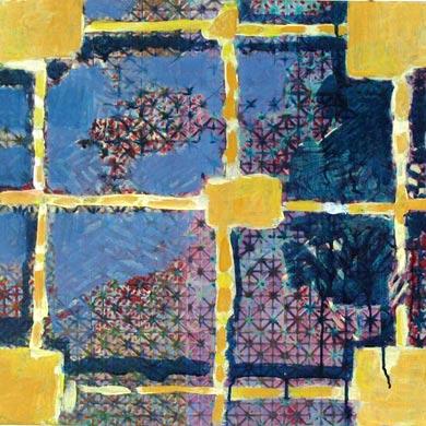Raster 2009  Acryl auf Leinen 60 x 60 cm