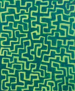 Im Garten der Träume 2003  Acryl auf Leinwand 60 x 50 cm