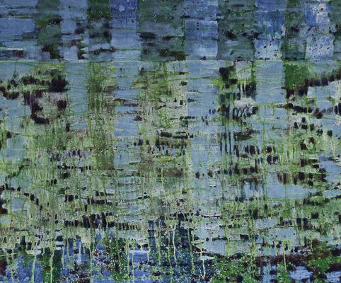 Spiegelung 2010  Acryl auf Leinen 112 x 135 cm