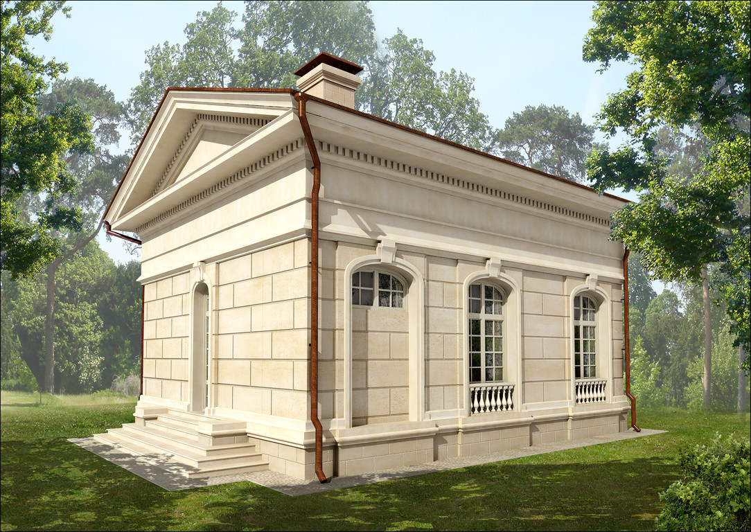 Визуализация  дома охраны