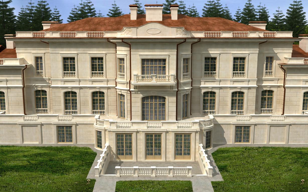 Визуализация  заднего фасада