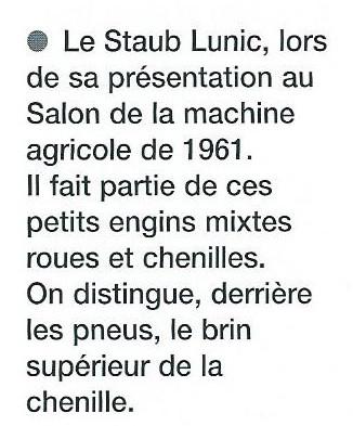 """Photo et texte extraits du livre """"Encyclopédie des tracteurs fabriqués en France des orignes à nos jours"""" de Christian Descombes"""