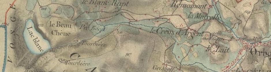 Carte d'état major (milieu 19è siècle)