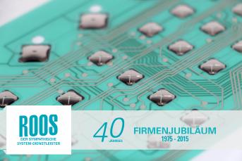 Die Roos GmbH feiert ihr 40-jaehriges Firmenjubilaeum – flexible Schaltung