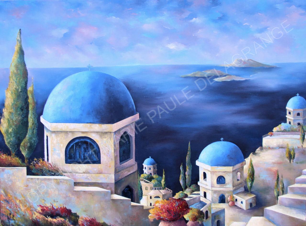 """"""" Panorama Crétois """"     huile sur toile                      73 x54"""