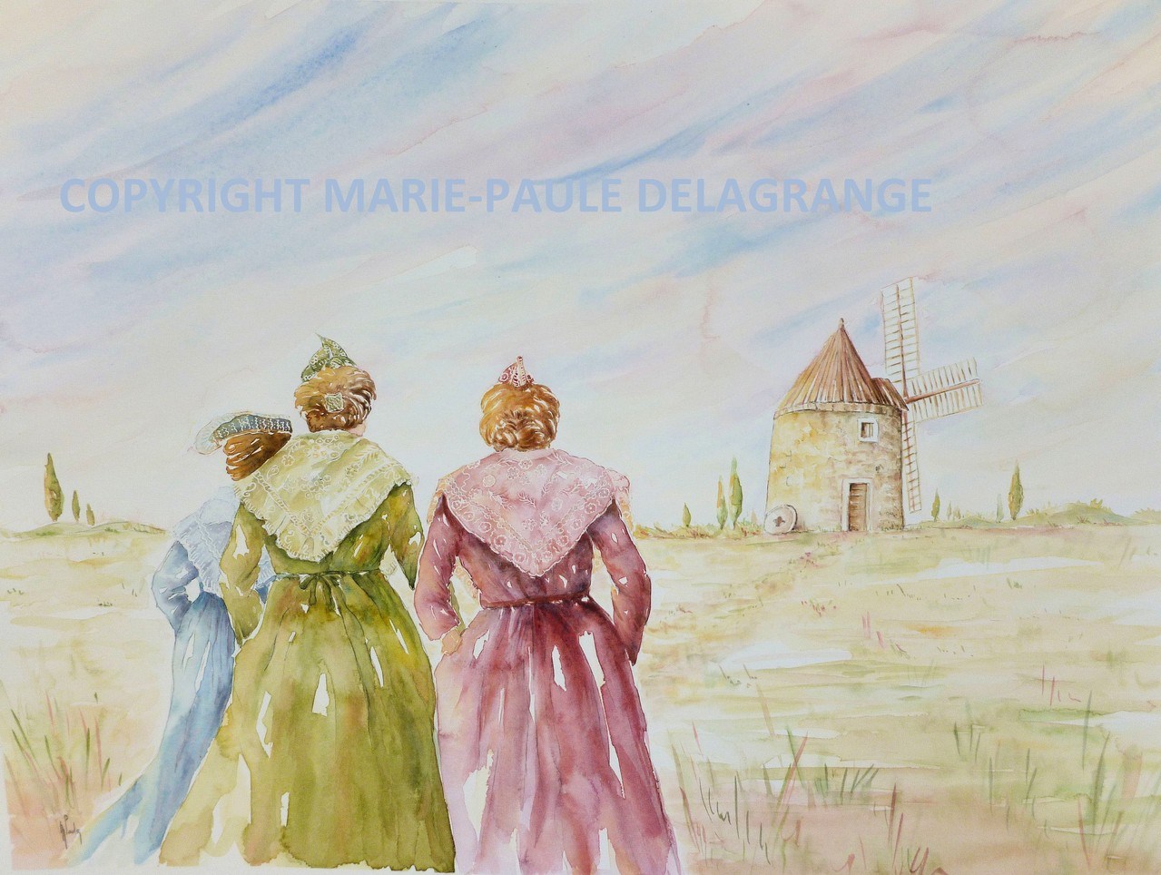 """""""  Trois Arlésiennes """"     73  x  59"""