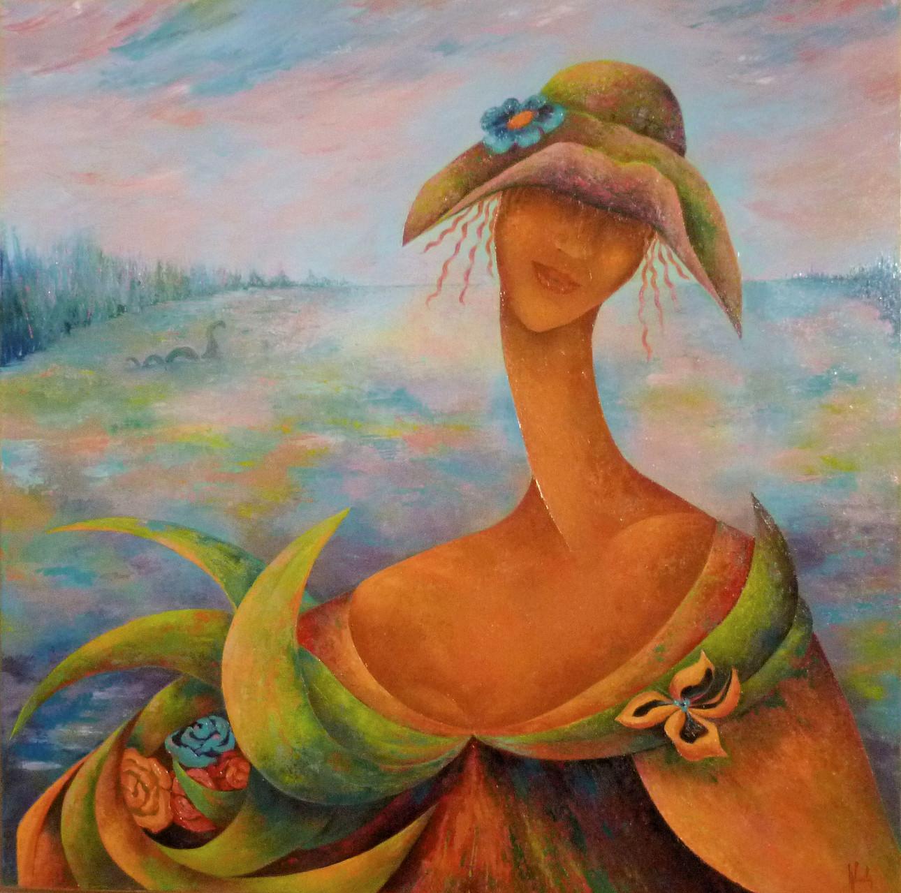 """""""   Nessie    """"                huile sur toile           80 x 80"""