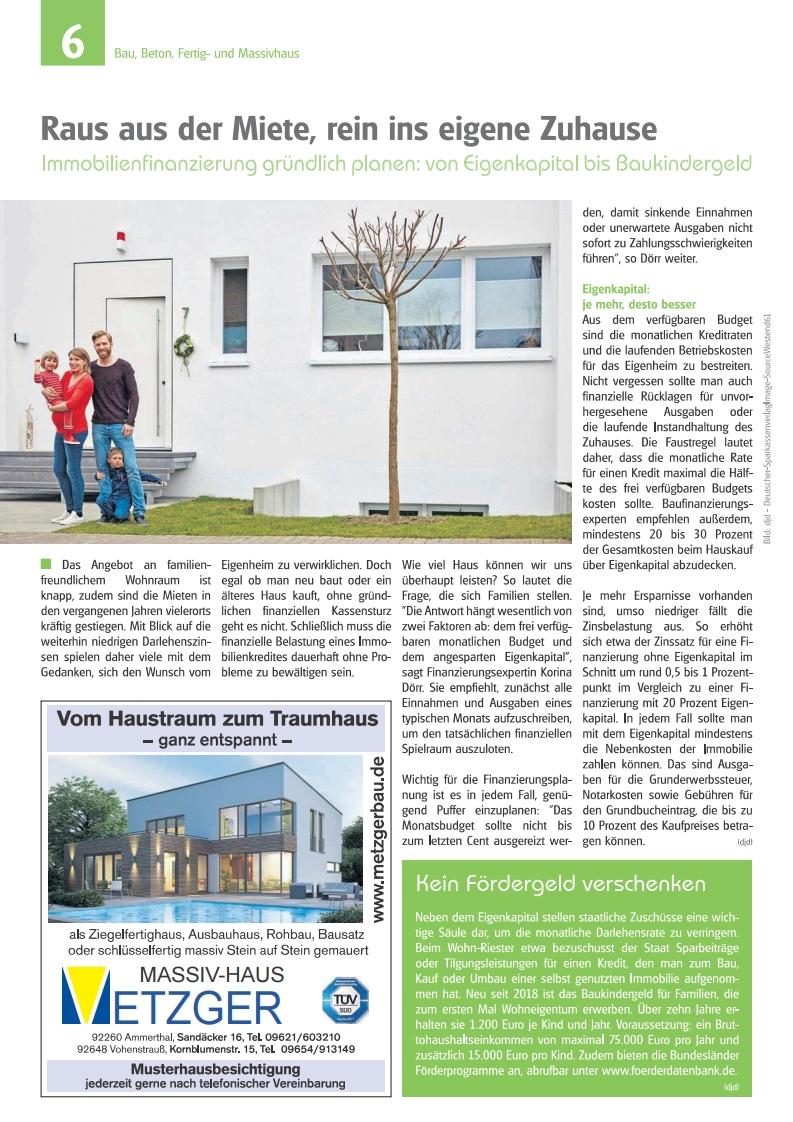 Massivhaus Metzger - Schöner Bauen und Wohnen