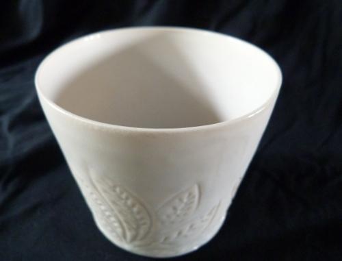 Photophore gravé  - porcelaine