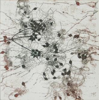 Isabelle Dansin- gravure - Hiver 2 - 10x10cm-