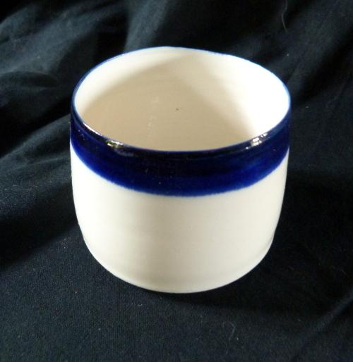 Photophore bande cobalt - porcelaine