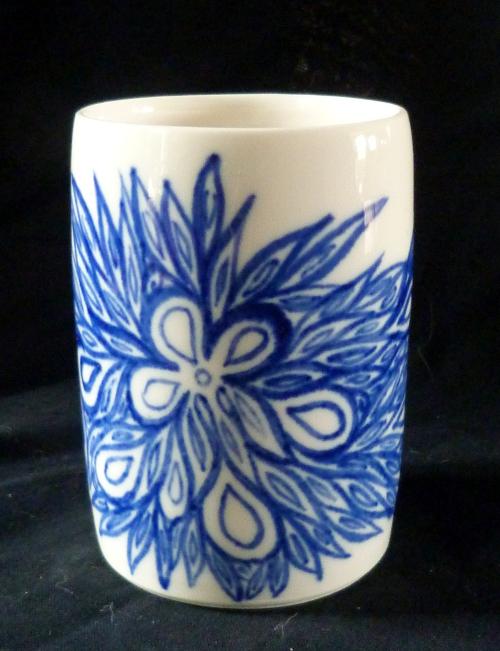 Photophore cobalt/blanc - Porcelaine