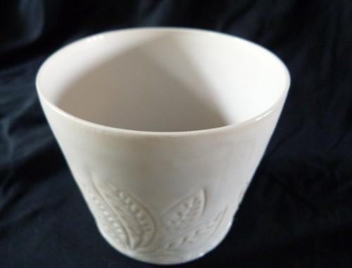 Photophore gravée -porcelaine