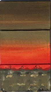 Cehel - triptyque - 20x32cm - peinture acrylique sur papier chiffon, collé sur toile, vernis acrylique mat