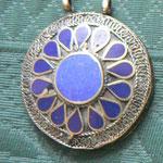 Bijoux ethnique - maillechort - émail ou lapis ou turquoise
