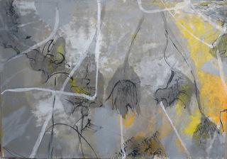 CEHEL - Plume -50x73 - 2018 - Encre et peinture marouflés sur toile