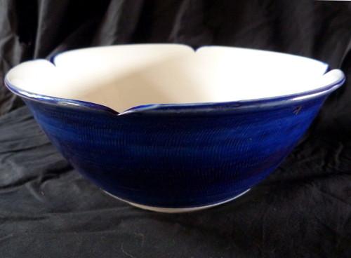Marie - Anne Guillemain - coupe porcelaine extérieur bleu