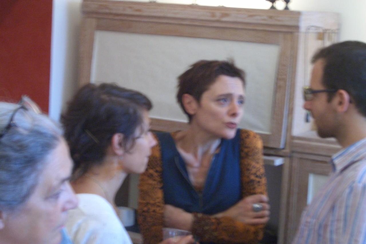Kata Illes et son professeur de français .