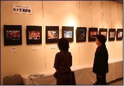 カメラ同好会の写真展示