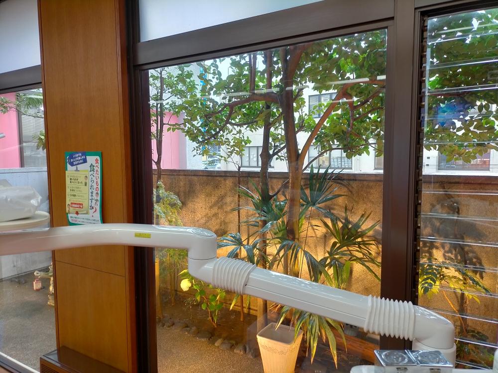 診療室の中庭