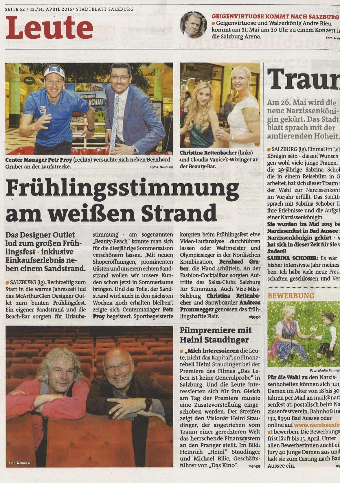 Stadtblatt, 13. April 2016