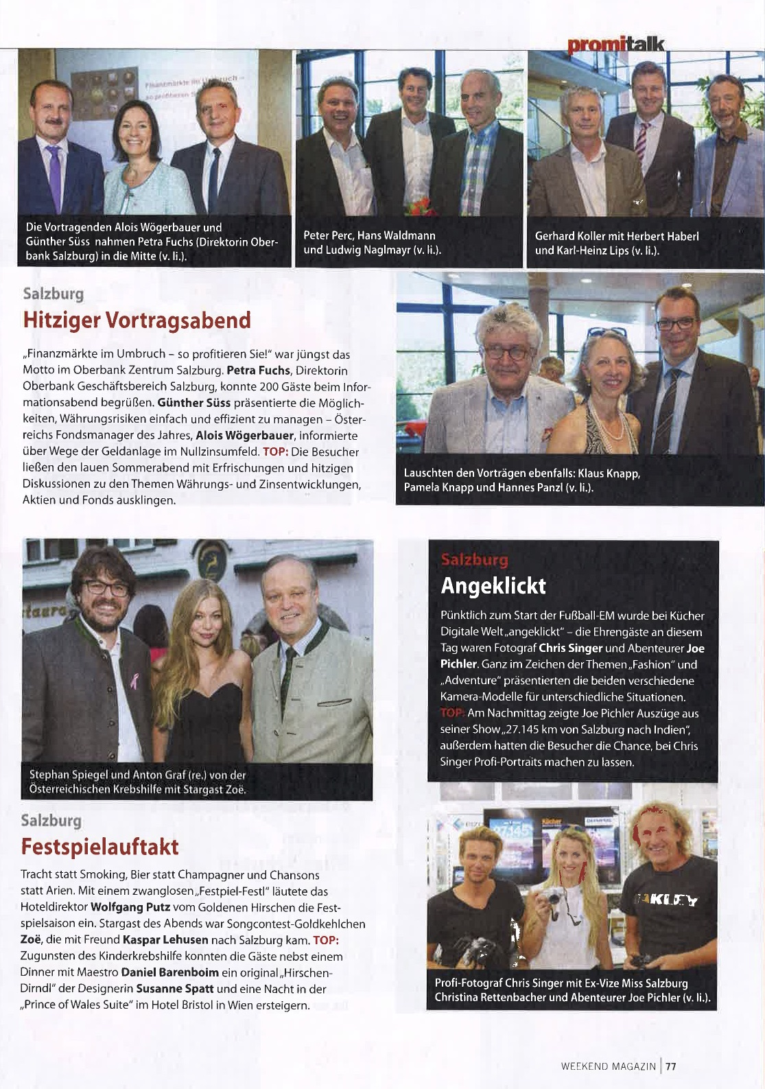 Event-Bericht im Weekend Magazin, 08. Juli 2016