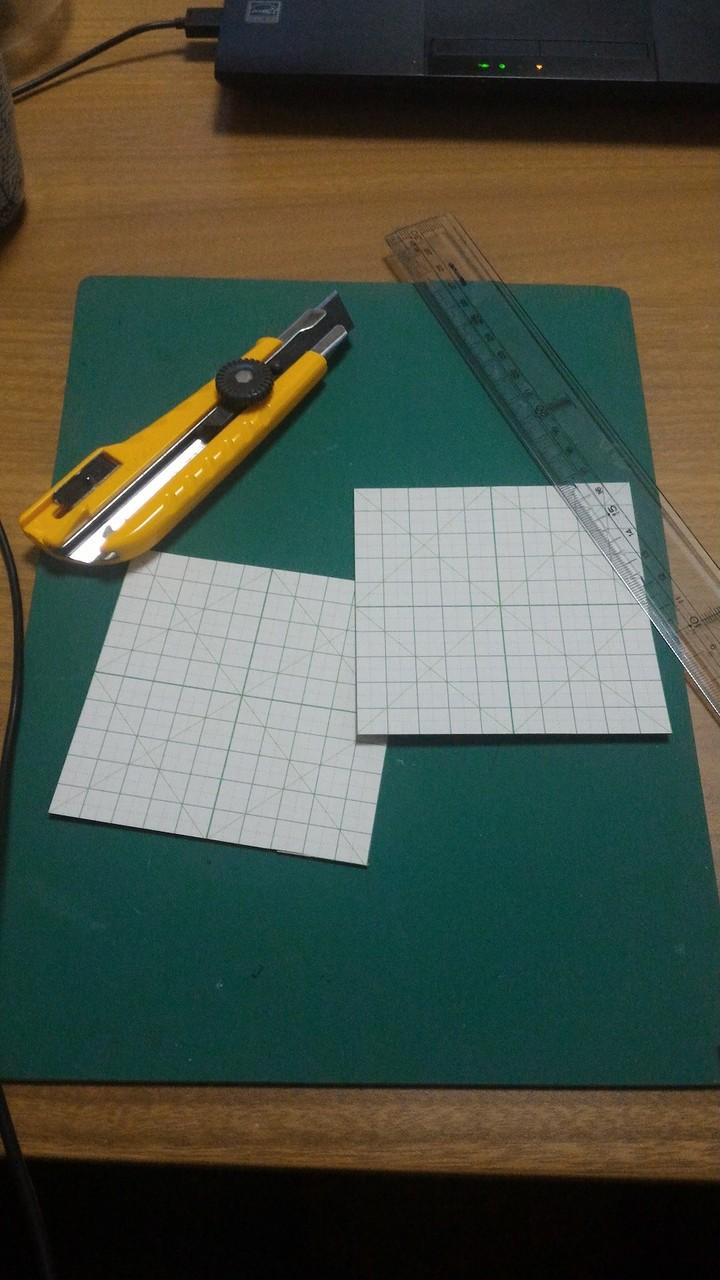 工作用紙から、材料切り出し…