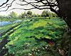Le dormeur du Val, huile sur toile 2009. texte: Arthur Rimbaud, lu par Raphael Didjaman