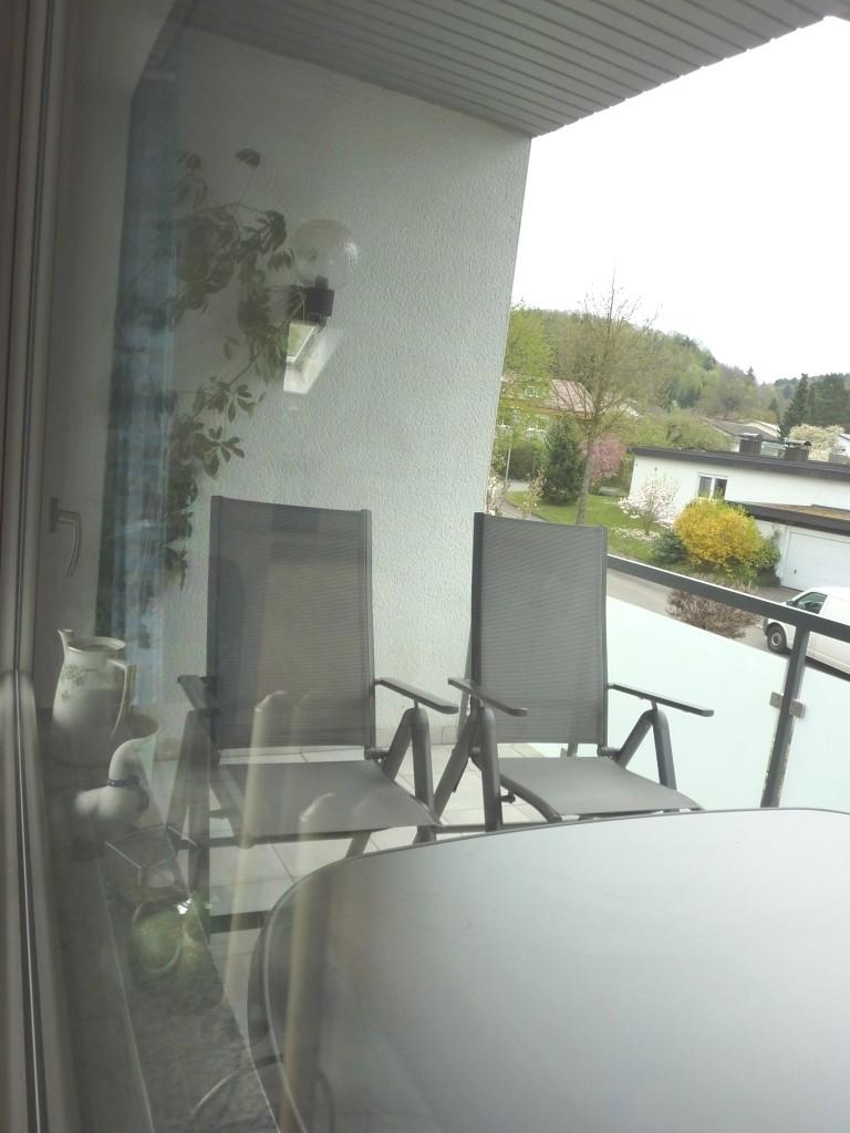Balkon mit Blick nach Osten