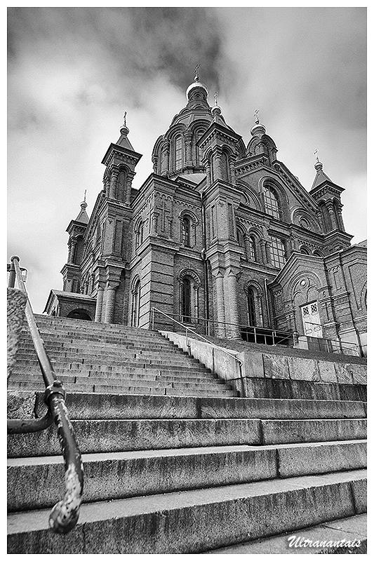 Cathédrale Ouspenski - Helsinki (Finlande) - Catégorie Noir et Blanc