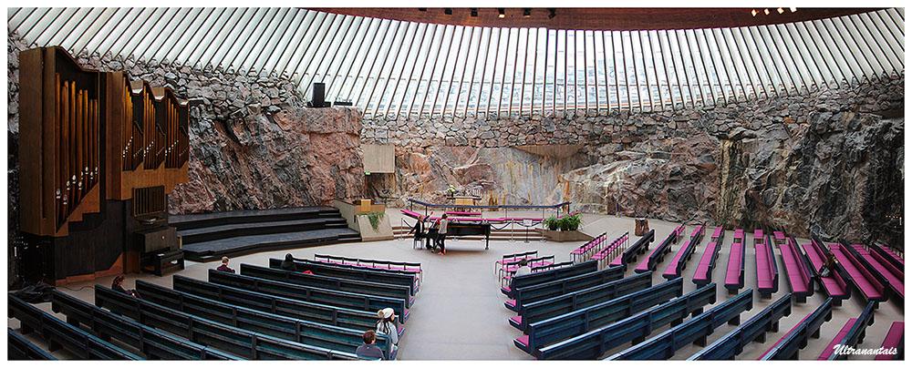 Église Temppeliaukio d'Helsinki - Finlande - Catégorie Panorama