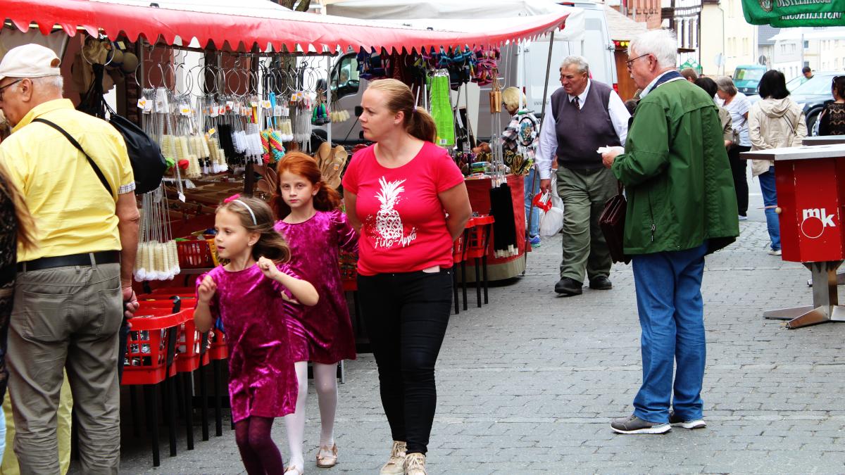 Noch einmal: Marktgeschehen beim Blumen- und Lichterfest. (Bild: Rainer Weiß)