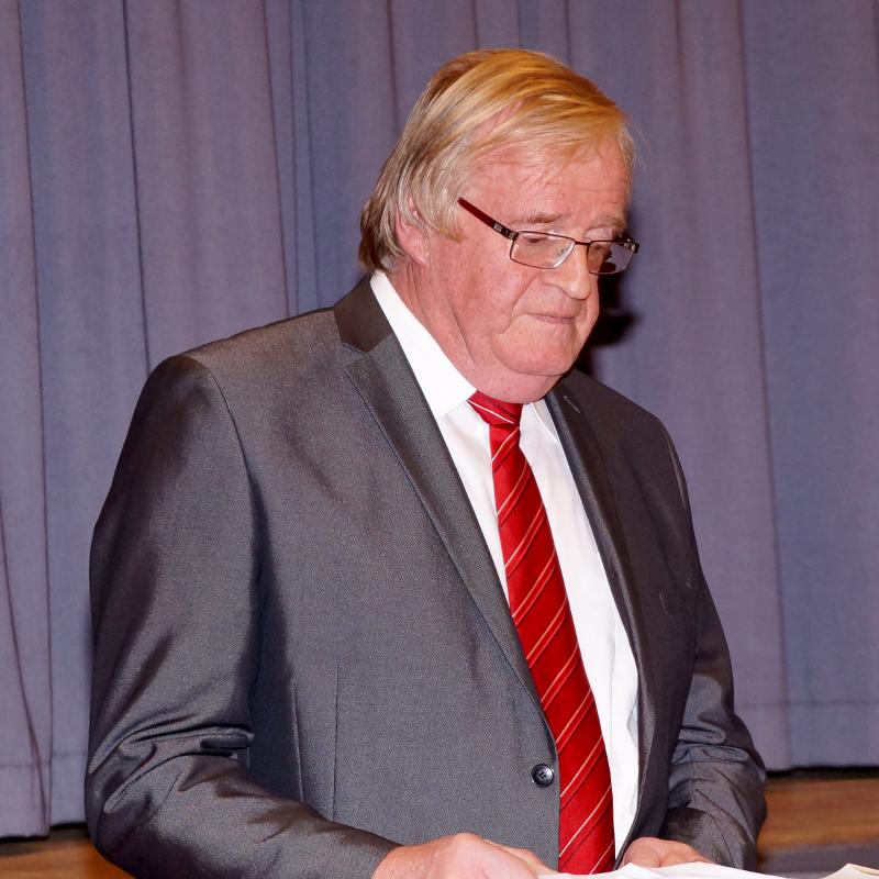 Bürgermeister-Stellvertreter Staudenmeider bei seiner Ansprache auf dem Empfang der Walldürner Reservisten.