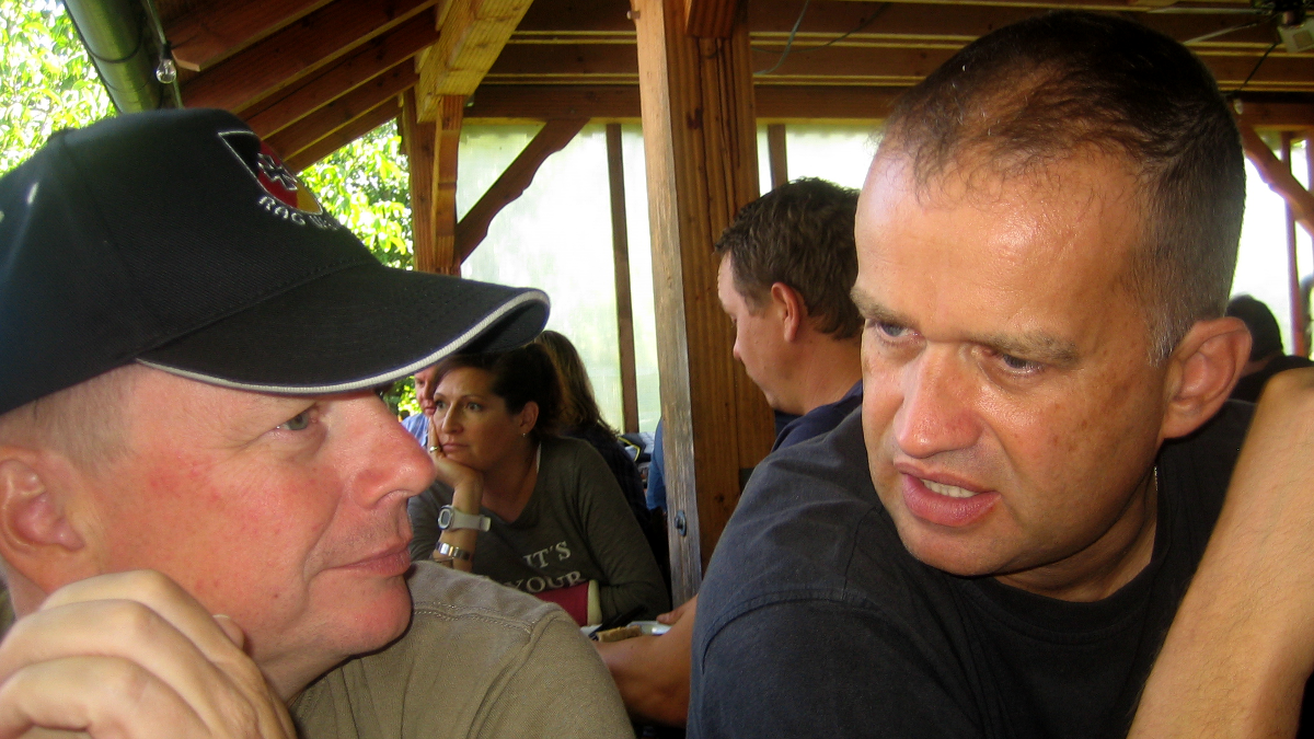 Der Biergarten der Kathi-Brauerei hat auch hier dazu geführt, dass sehr, sehr ernsthafte Gespräche untereinander möglich waren.  (Bild: Rainer Weiß)