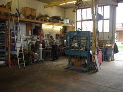 Werkstatt für Unterhalt und Reparaturen unserer Maschinen
