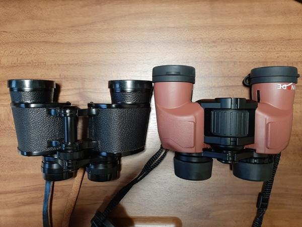 左:Nikon 7×35(ポロ)、右:ヒノデ6×30-B1(ポロ)