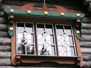 Fenster vom  Kelo Holzhaus