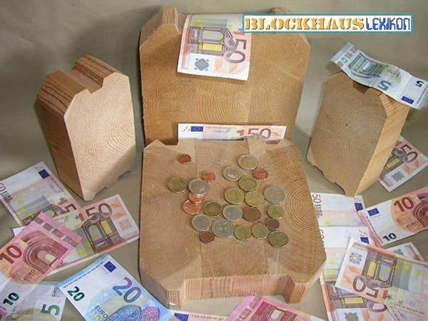 Materialpreise von Blockhäusern sind ua. immer sehr stark abhängig von der Art und Särke der Blockbalken