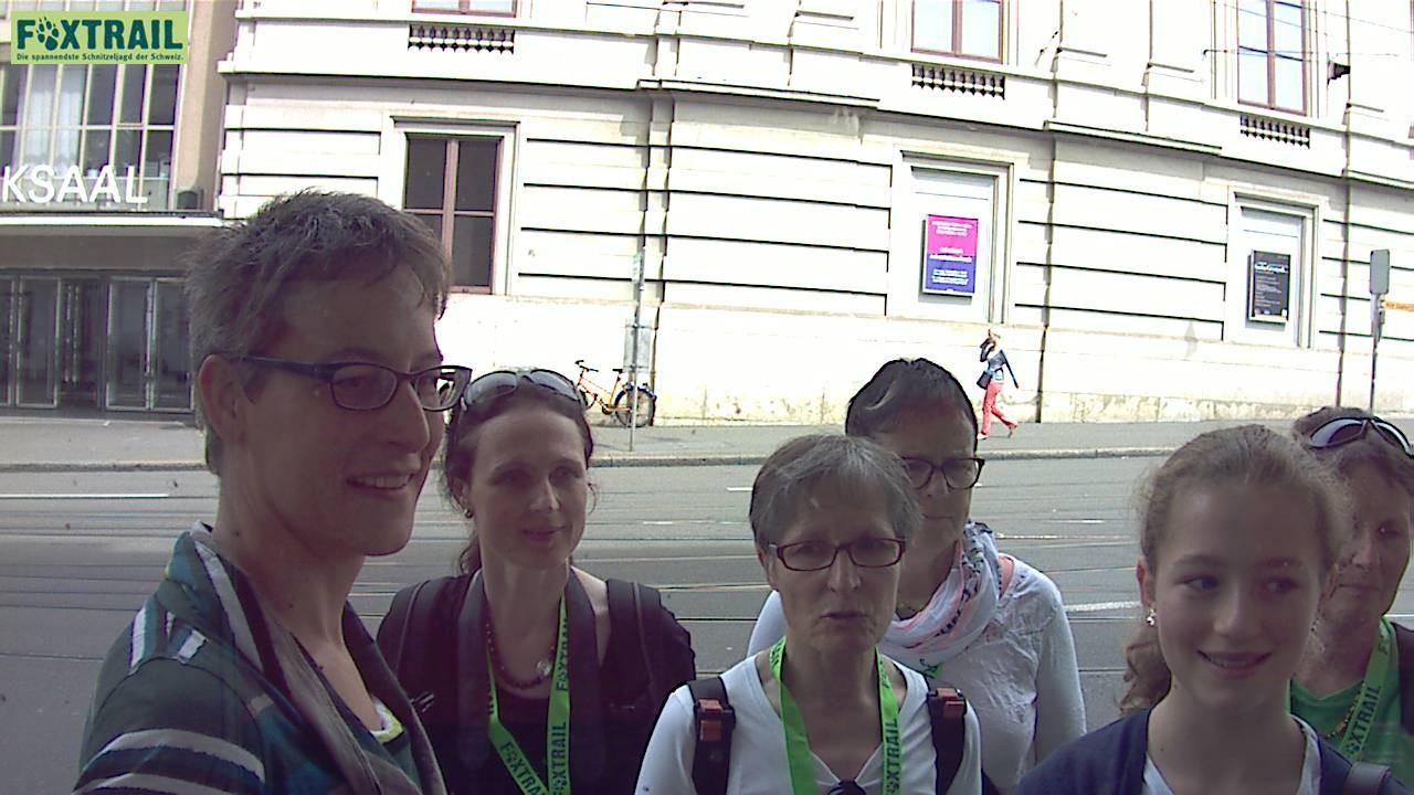 Gruppe Helena und zwei Baslerinnen mit denen sie gemeinsame Sache machten! - Cyan