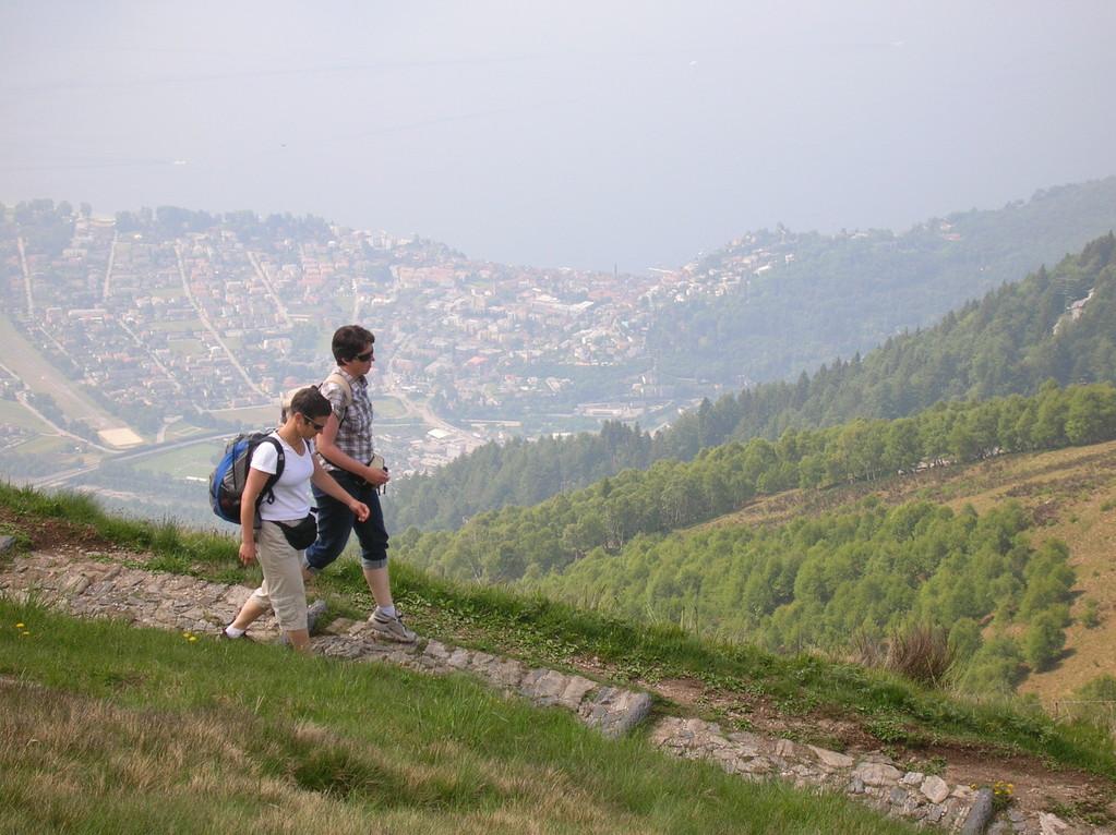 Auf der Wanderung von Cimetta nach Cardada