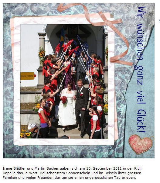 Heirat von Irène und Martin